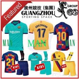 2019 fato de treino ibrahimovic 2019 Barcelona GRIEZMANN 17 crianças camisas de futebol fora 19 20 SUAREZ 9 F.DE JONG A.INIESTA DE JONG criança terceira JERSEY kits CAMISA DE FUTEBOL