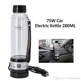 Heater Cup bollitore elettrico New 12V / 24V 75W Car 280ML auto Riscaldamento tazza di corsa riscaldata Acqua calda per tazza di caffè del tè con controllo di temperatura da decorazioni di calice fornitori