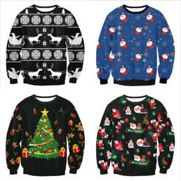 Новые некрасивые рождественские свитера онлайн-2019 Гадкий Рождество Санта Printed Сыпучие свитер мужской Мужчины Женщины Пуловер осень зима новый год Tops Xmas Одежда Dropshipping