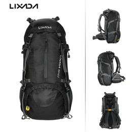 76bb6e9c11fa Lixada 50L Water Resistant Hiking Camping Backpack Outdoor Bags  Mountaineering Climbing Trekking Bag Sports Travel Backpack