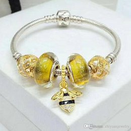 bracelets de charme miel d'abeille d'or top qualité en argent sterling 925 bracelets paquet complet cadeaux pour elle ? partir de fabricateur