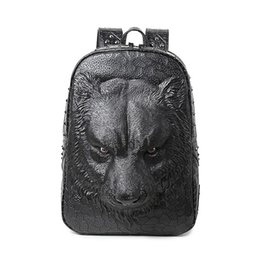laptop american girl Coupons - Wholesale- Cool women backpack shoulder bags 3D tiger backpack for teenage girls high quality pu leather backpack laptop school bags