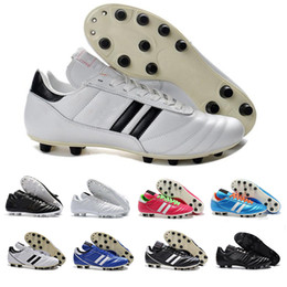 discounted soccer cleats Coupons - Mens Copa Mundial Leather FG Soccer Shoes  Triple White Black Discount 8e24b7cff79