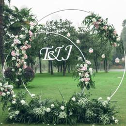 stand di ferro da fiori Sconti 5 Dimensioni Wedding Party Puntelli Decor Anello in ferro battuto Arco Fondale Rotondo ad arco Fiore di seta artificiale fila fila mensola a muro
