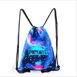 Hot new Fortnite game bastion night canvas drawstring luminoso mochila mochila estudiante paquete mochila de viaje bolsas al aire libre desde fabricantes