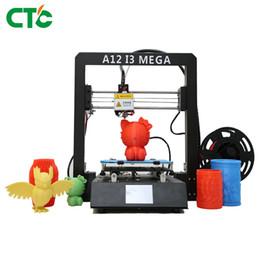 Serigrafia metallo online-Stampante 3D A12 I3 Mega Spegnere Riprendi stampa Filament sensore Touch Screen metallo 3d telaio della stampante Drucker Impresora Parts