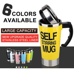 US $15.39 |400 ML Self Stirring Mug Double Insulated Automatic Electric Coffee Cups Tea Milk Mixing Drinking Cup with Lid for Office Home|Mugs|