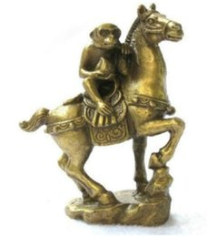 Statue d'ottone online-New ++ + + Small Collectibles Brass Statue MonkeyHorse gratuite