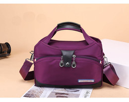 multi compartment handbags Promo Codes - Multi-Pocket Large Capacity Shoulder Bag Women Waterproof Durable Oxford Women Handbag Portable Messenger Bag