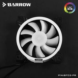 вентилятор радиатора 12v Скидка Барроу PWM охлаждения Вентилятор радиатора BF03-PR Охлаждающий вентилятор 12V Провода Aurora RGB охлаждающий вентилятор комплект с регулируемой кольцевой свет гидравлический подшипник