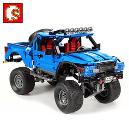 Wholesale Sembo Technic F Raptor Pickup Truck creador expertos Modelo regalo de los juguetes bloques con Compatible Legoings Technik