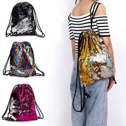 Paquetes de pañales online-niños mochila sirena lentejuelas diseñador de lujo paquete bolso cordón de playa mochila estudiante mochilas bolsa de pañales bebé mochila bolsa de viaje