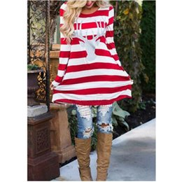 466dba01c7 Christmas Stripe Elk Head Print Baby Dress Parent-child Dress Mother Daughter  Dresses Long-sleeved Loose Women Girls Dress MMA1124 loose straight dress  ...