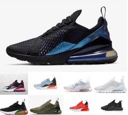Canada 2019 Couleur Nike Air Max airmax 270 27C Teal Chaussures de course 2 étoiles France Hommes Femmes Flair Triple Black White Trainer chaussure Medium Olive Bruce Lee baskets 36-45 cheap olive color shoes Offre