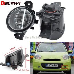 coches nissan micra Rebajas 2 UNIDS Car styling LED Faros de niebla 12V H11 halógenas Lámparas de niebla 1set Para Nissan March Micra K12 K13 2005-2017