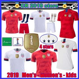 Miúdos de futebol dos eua on-line-2019 Champion EUA dos homens das mulheres dos homens 2019 Copa Do Ouro DOS EUA Jersey de Futebol PULISICO DEMPSEY BRADLEY ALTIDORE MORGAN Copa América Camisas De Futebol
