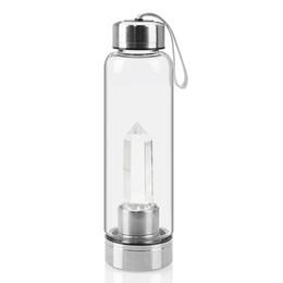 Criativo Coluna De Cristal De Energia Copo De Água De Cristal Natural Copo De Água Beber Garrafa de Vidro-Água de
