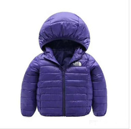 Hoodie für jungen online-heißer Verkauf Marke NF Baby Winter Jacken Licht Kinder weiße Ente Daunenmantel Baby Jacke für Mädchen Jungen Parka Oberbekleidung Hoodies Puffer Coat