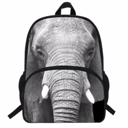 2019 mochilas de chicas elefantes Mochila de animales de 16 pulgadas para niños Bolsa de estampado de elefante para niños Mochila de elefante Bolsa de animales de zoológico para niños Niños de escuela Niños mochilas de chicas elefantes baratos