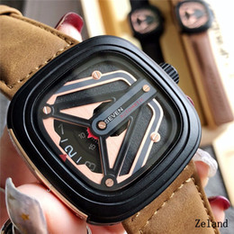 b53da5042e6 Mens relógios de alta qualidade marca de moda relógio de quartzo pulseira  de couro pequeno trabalho em segunda mão único designer de relógio de pulso  AAA ...