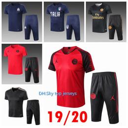 Kits de futbol de italia online-19 RONALDO Italia psg soccer survetement manga corta 3/4 pantalones chándal entrenamiento de fútbol de fútbol kit mbappe conjunto de chandal