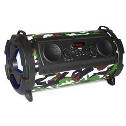 2019 s1 mp3 Nuovo altoparlante portatile Bluetooth Subwoofer esterno con microfono Altoparlante USB 15W 2000mah TF Incorporato in 3 altoparlanti