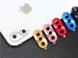 cámara de protección iphone Rebajas Anillo de protección personal resistente a raspaduras en la cámara con anillo de protección de metal para iPhone X XS XSmax