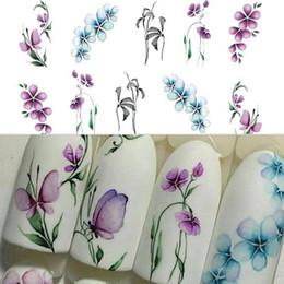 35 # Moda Vintage Çiçekler ve Kelebek Desenleri PVC Su Transferi Sanat Nail Sticker Manikür DIY Çıkartmaları Nail Art Süslemeleri nereden