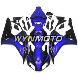 Kit di abbassamento di honda online-Kit completo ribassato lucido blu e nero per Honda CBR1000RR 2006 2007 06 07 Kit per carrozzeria stampaggio ad iniezione per carene Sportbike