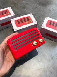 haut-parleurs bluetooth rouges Promotion Hot Street Fashion Supre RED Classique Rétro Haut-parleurs Mini Portable Sans Fil multimédia bluetooth Haut-Parleur Soutien TF Carte Mains Libres Haut-Parleur
