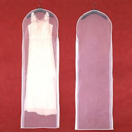 Deckbekleidung transparent online-Kleidungsstück Kleid Abdeckung Transparent Hochzeit Brautkleid Kleidung Anzug Mantel Staubschutz Mit Reißverschluss Für Hauptgarderobe Kleid Aufbewahrungstasche