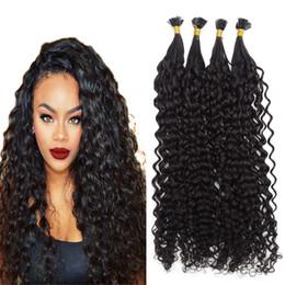 2019 queratina plana 100s Brazilaina Keratin Tip Extensión de cabello rizado Rubio Extensión de cabello humano Keratin Flat Tip Extensión de cabello Natural Negro Marrón 14