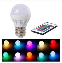 Canada 3W E27 LED RGB LED Ampoule avec télécommande IR Pop Lampe Changement de couleur AC 85-265V 16 couleurs changeantes Ampoules LED Tubes Offre