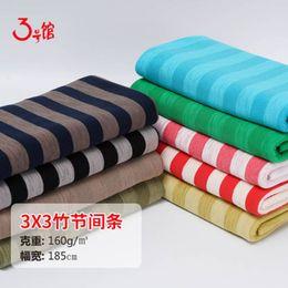 Camisetas de poliéster de calidad online-Raya de tela de algodón poliéster de buena calidad para coser camiseta o vestido 50x185cm / pieza TA0009
