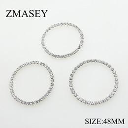 Новый 50 шт. / лот 48 мм Кристалл круглый Серебряный горный хрусталь пряжки Алмаз металлические пряжки для свадьбы ленты женская обувь ремесло украшения от