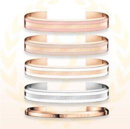 Nueva llegada amantes de DW pulsera de acero inoxidable brazalete clásico de oro rosa y plata mujeres hombres pulseras pulsera regalo de Navidad con caja desde fabricantes