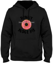 krapfen-sweatshirt Rabatt Donut Richter Me Lustig Printed Top-Marken-Kleidung Slim Fit Printing Pullover Sweatshirts