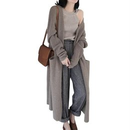 db55af2faf 2018 Autumn And Winter Fashion Plus Size Womens Long Sleeve Knitted Loose Cardigan  Sweater Outwear Coat Jacket Lazy Sweater Hot