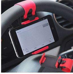 2019 mini-lenkrad Auto halterung mini lüfter lenkrad clip halterung handy handy halter universal für iphone unterstützung halterung ständer rabatt mini-lenkrad