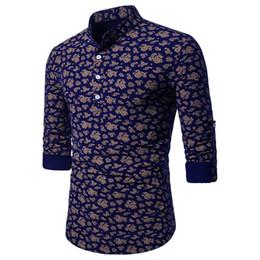 d0e8b206abc097 Gute qualität 2019 Marke Männer Hemd Frühling Sommer Casual Paisley Print  Slim Fit Langarm Shirt Camisa Masculina Top Bluse