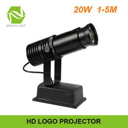Projetor logotipo gobo on-line-Indoor Logo 20W COB HD Publicidade Projector Imagem estática do LED Gobo projetor liga de alumínio Customize Logo 1600lm Projetando Luz