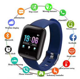 2019 schrittzähler für kinder 116 Plus-Smart-Armbänder Tracker Pedometer Blutdrucküberwachungs-Band wasserdichte Outdoor-Health Smart Armband 5 in 1 Uhr günstig schrittzähler für kinder