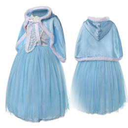 Hoodies de lã para meninas on-line-Baby Girl Tutu Lace Ruffled Vestido Com Capuz Cape Poncho Velo e Rendas Princesa Puff Ombro Vestidos de Natal Roupas de Bebê M292