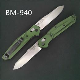 cuchillo doblado de nuevo Rebajas Cuchillo de mesa Benchmade BM940 Osborne S30V AXIS lock, mango de aluminio Titanium purple back clip 485 940 3300 BM42 BM41 BM943 cuchillo mariposa
