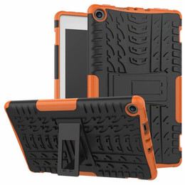 funda protectora para kindle fire hd Rebajas Para Kindle Fire HD 8 2018 Funda de plástico duro caliente TPU Combo Armor Bracket Funda protectora para Kindle Fire HD 8 2018