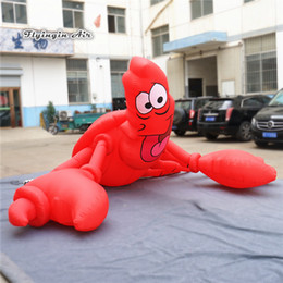 Grand homard gonflable adapté aux besoins du client de modèle de bande dessinée modèle homard 2 taille écrevisses rouges de crevette pour la décoration de thème d'aquarium ? partir de fabricateur