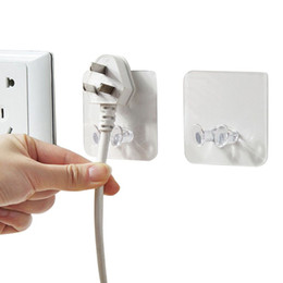 wall plug holder Coupons - 3pc Wall Storage Hook Power Plug Socket Holder Wall Adhesive Hanger Home Office 2019 New products selling well