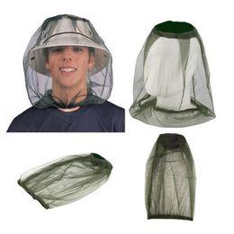 Mosquiteiros on-line-Verão Leve Midge Mosquito Inseto Chapéu Bug Mesh Head Rosto Net Protector Viagem Camping Hedging Anti-mosquito Cap BH0891 TQQ