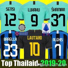 Pullover per calcio di calcio online-INTER MILAN third 19 20 Thailandia LUKAKU ICARDI LAUTARO Martinez Inter Milan 2019 2020 maglia da calcio PERISIC NAINGGOLAN POLITANO EDER AMBROSIO maglia da calcio 18 19 kit