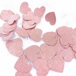 2019 confetti decorazione tavolo 100Pcs Confetti Table Glitter oro rosa confetti in carta 3cm decorazioni regalo di compleanno festa di nozze Scatter arredamento da tavola 2019 sconti confetti decorazione tavolo